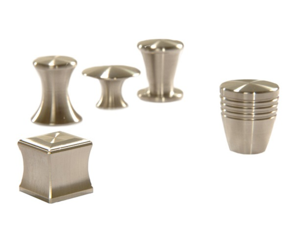 Stainless steel knobs for furnishing
